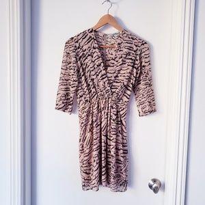 Lovers+Friends  3/4 sleeve animal print dress Sz S
